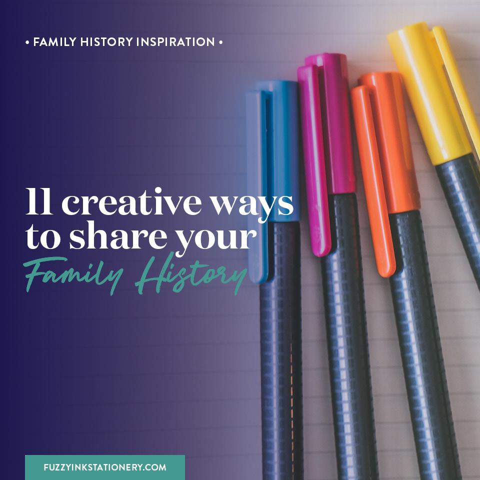 Fuzzy Ink Stationery | Family History Inspiration | 11 creative ways to share your family history