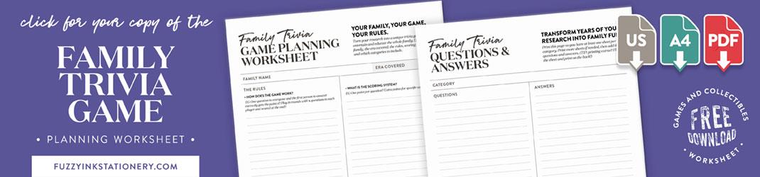 download promo family trivia game planning worksheet
