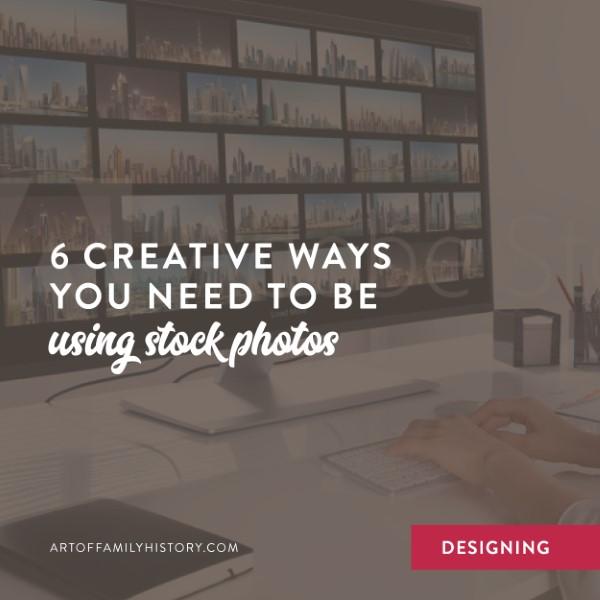 Fuzzy Ink Stationery Designing Tips | 6 creative ways you need to be using stock photos #familyhistory #designideas #booklayout