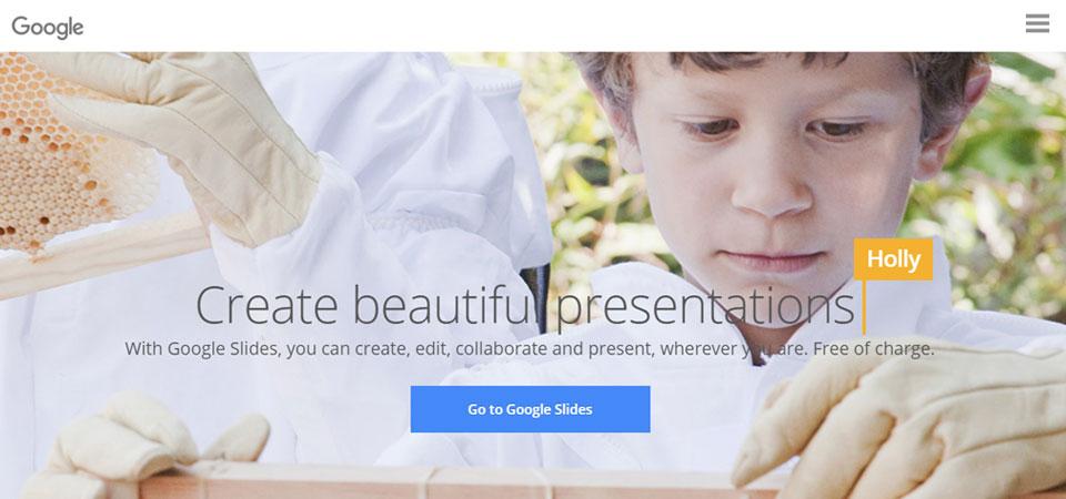 Google Slides home page