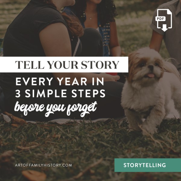 What story will you tell your descendants? Follow these 3 simple steps to start recording your story before you forget #storytelling #descendants #familyhistory
