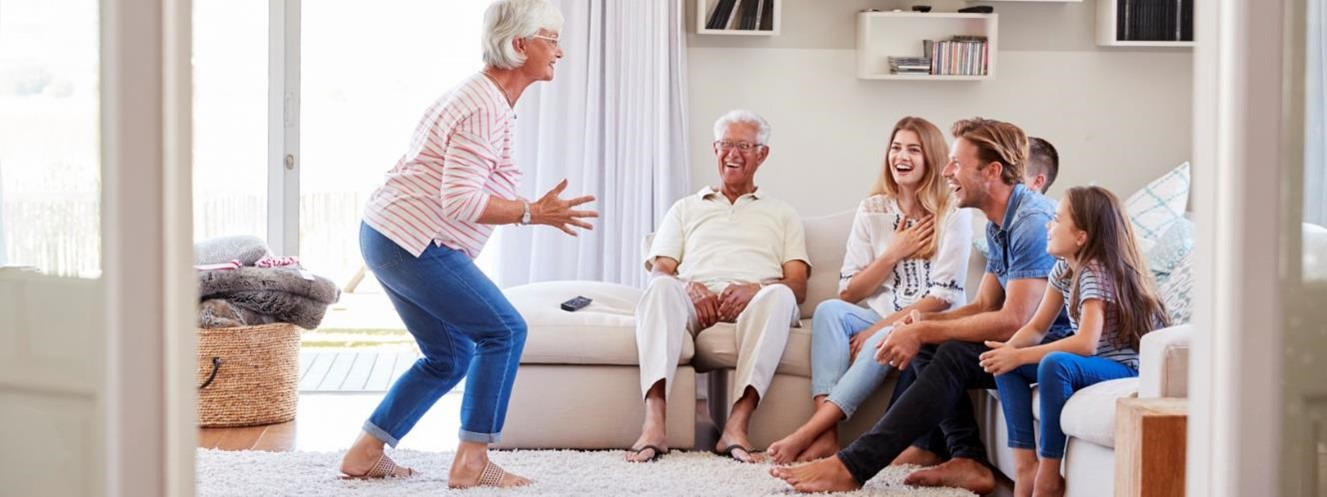 Picture of a family on couch
