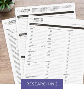 Ancestor Discovery Worksheet